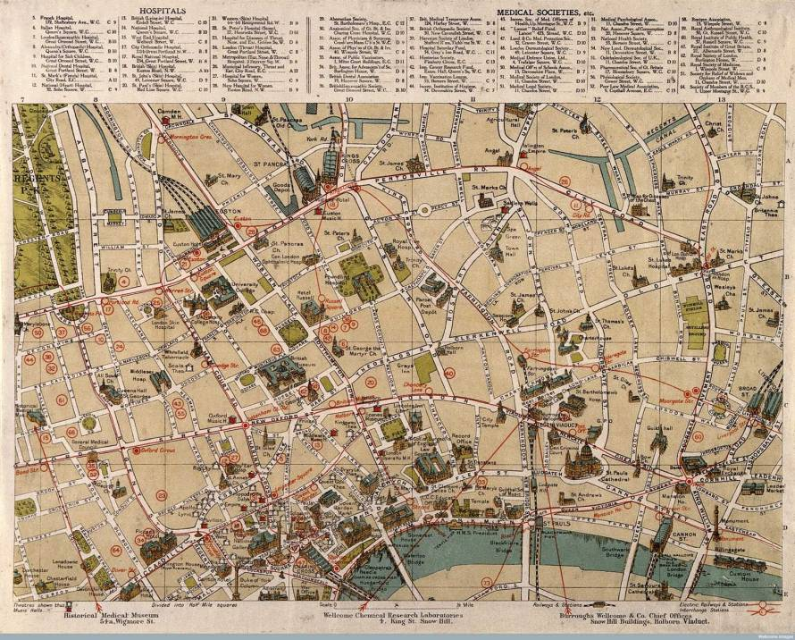http://mappinglondon.co.uk/2014/londons-sites-of-medical-interest-1913/